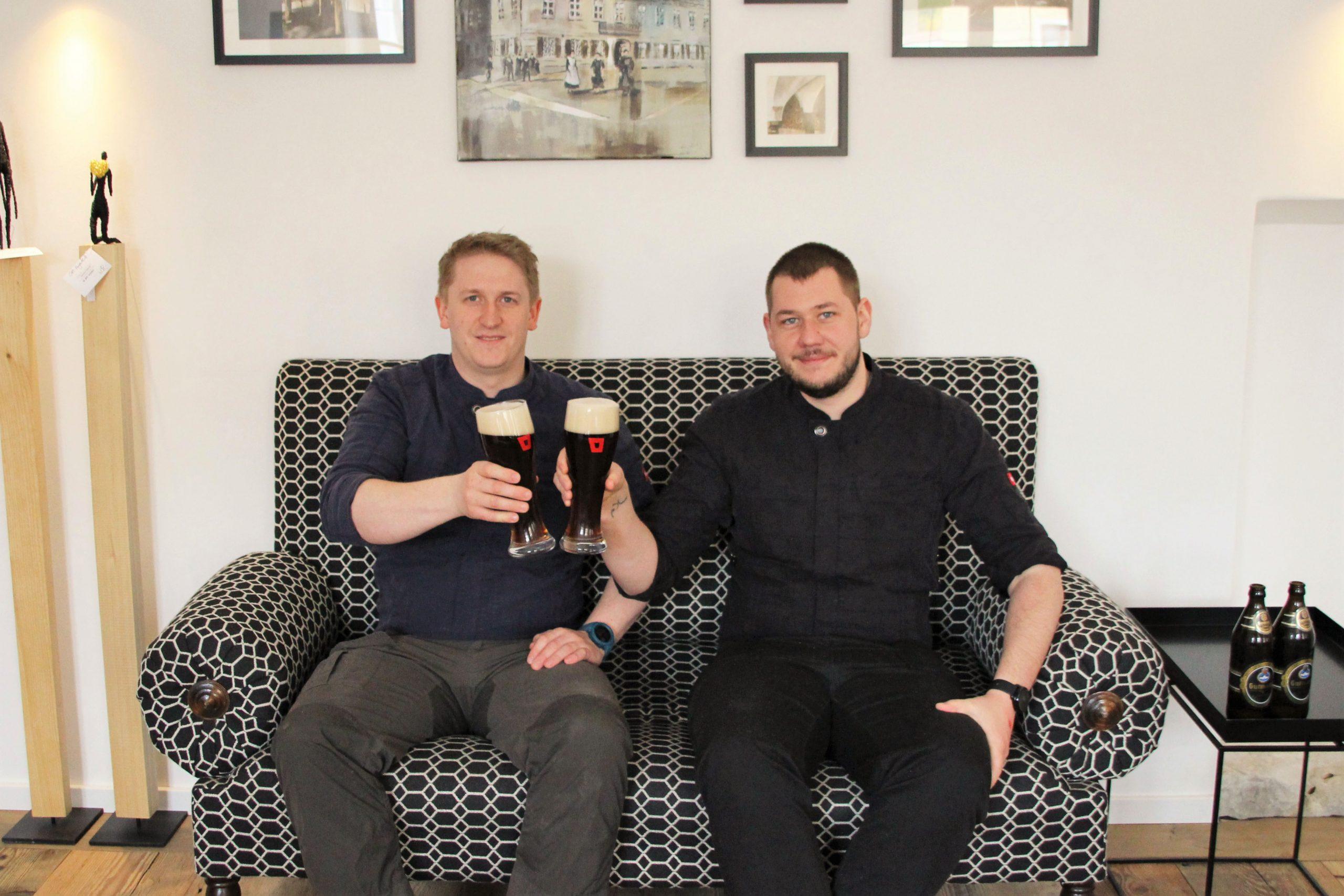 Michael Weidinger und Matthias Bersch sind die Küchenchefs in der Post Berching